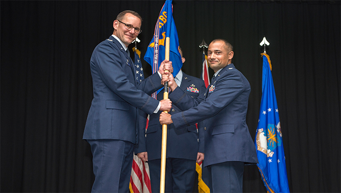 422nd Communications Squadron Change of Command