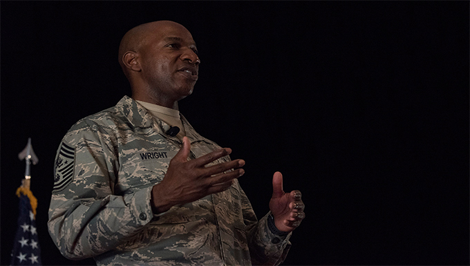 CMSAF Wright Visits the 501st CSW
