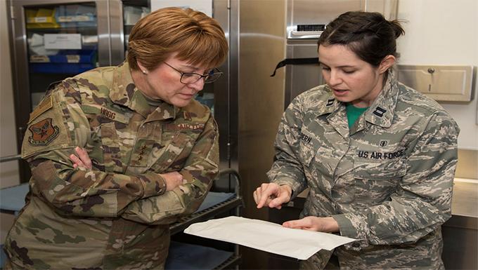 Lt. Gen. Dorothy Hogg Visits 501st CSW