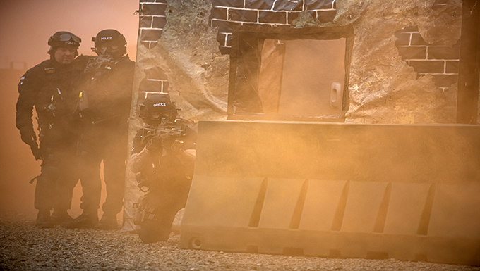 422nd SFS, NHPD strengthen local ties through live-fire, field training exercises