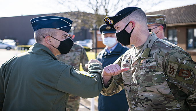 USAFE-AFAFRICA leadership visits 501st CSW