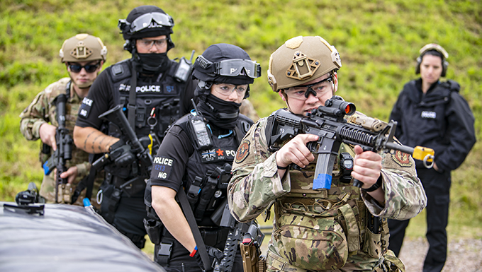 422d SFS, MPD, NHPD integrate for tri-agency active shooter response exercise
