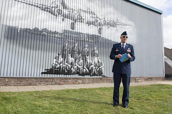 JAC commander dedicates memorial mural at WWII U.S. base