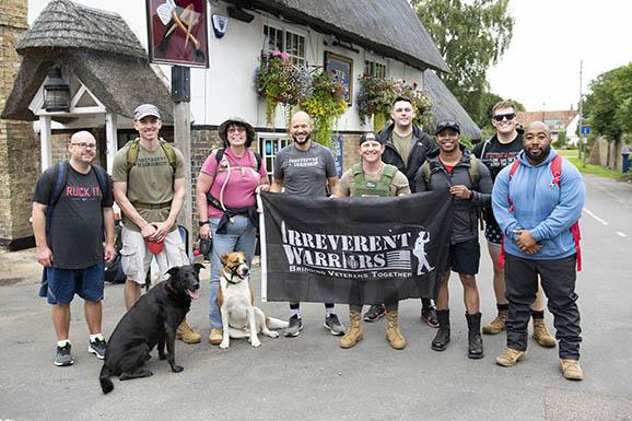 Irreverent Warriors host first U.K. hike